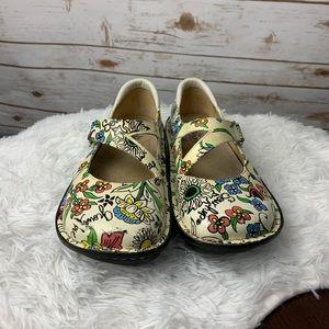 Alegria Shoe Dayna White Sew Hope Mary Jane 7-7.5